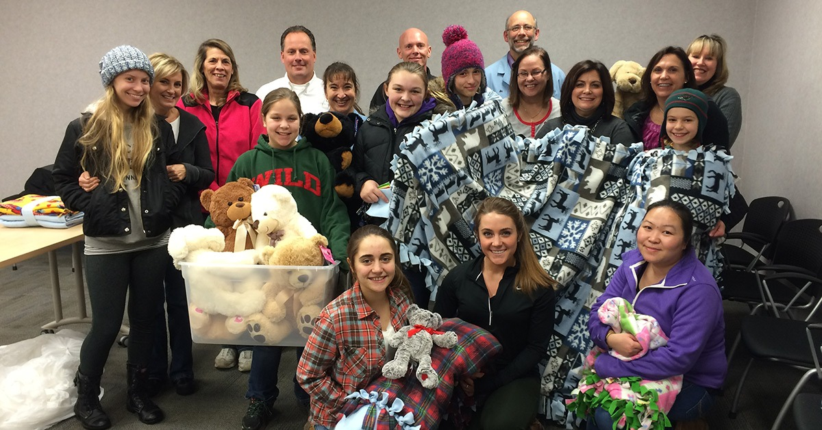 Blankets and stuffed animal gifts donations