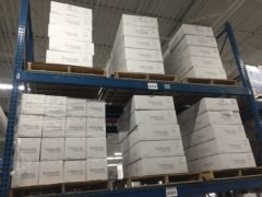 Innovize white boxes on warehouse shelves