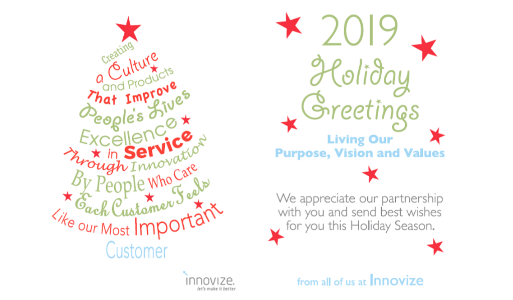 Innovize Holiday card 2019